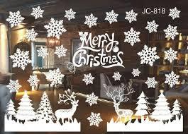 Home Décor Items <b>Christmas</b> Snow City Wall Stickers Window ...