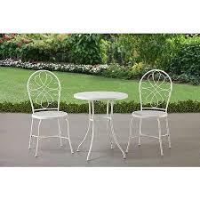 crossman piece outdoor bistro: mainstays sugar grove  piece patio bistro set white