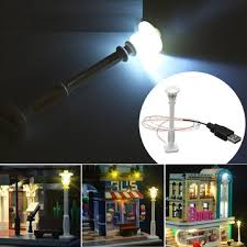 <b>Universal diy led white</b> street lamp for lego streetscape building ...