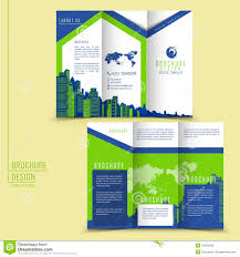 modern style tri fold brochure template for business stock vector modern style tri fold brochure template for business