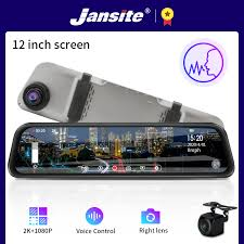 Jansite <b>12 inch 2K</b> Ultra HD Mirror Car Recorder DVR Auto Dash ...