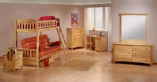beautiful kids bedroom with wooden bunk bed ad wooden dresser and beige wall paint color bunk beds kids dresser