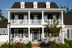 story height exterior traditional   two story porch     story height exterior traditional   horizontal siding two story porch southern style