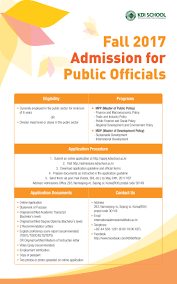 fall kdi admission for public officials