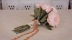 How to Make an <b>Artificial Peony Bouquet</b> - YouTube