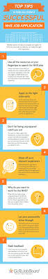 top tips to help you make a successful nhs job application visual ly top tips to help you make a successful nhs job application infographic