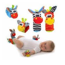 купить Baby Socks Rattle Toys 2016 New Garden Bug Wrist Rattle ...
