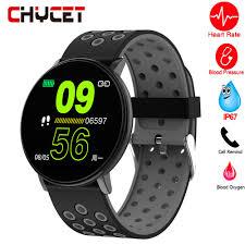 <b>Smart Watch Men Blood</b> Pressure Smart Clock Round Waterproof ...