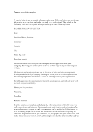 follow up letter for job resume cipanewsletter cover letter follow up email after sending resume sample follow up