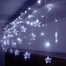 LED Curtain Light Waterproof Christmas Light <b>Star LED String</b> Lights ...