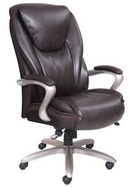 serta smart layers hensley executive big tall chair roasted chestnutsatin nickel by office depot officemax big office chairs big tall