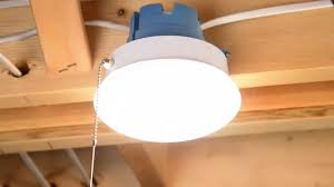 """ETi Solid State <b>Lighting</b> 7"""" <b>Spin Light</b> with Pull Chain Install - YouTube"""