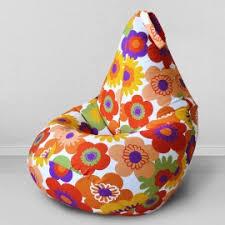 <b>Кресло бескаркасное</b> Груша Пуэрто Плата оранжевый, размер ...