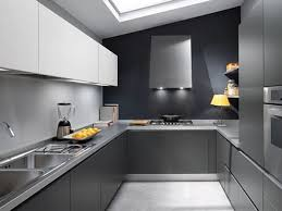 modern kitchen setup: kitchen modern kitchen elegant design come with u shape kitcchen cabinet set and grey quartz countertop plus two wash area stainless steel sink along with