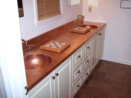 copper kitchen white cabinets
