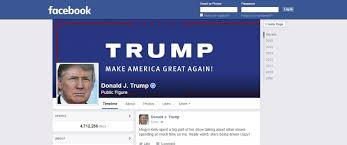 Image result for donald trump facebook