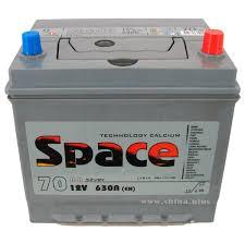 <b>АКБ</b> 70Ah <b>Space</b> Ca/Ca (о.п.+) 630А 12V Азия