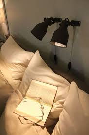 lamps bedroom ikea installing individual hektar lamps above the bed allows reading in bed