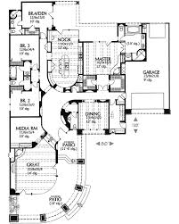 Contemporary Southwestern Home Plan   MD   st Floor Master    Floor Plan