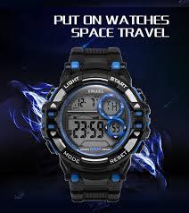 <b>Digital Wrsitwatches</b> Sports Outdoor <b>SMAEL</b> New Watches Black ...