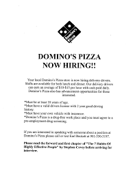 Domino     s Pizza hiring delivery drivers Job   Career News from the Memphis Public Library   WordPress com