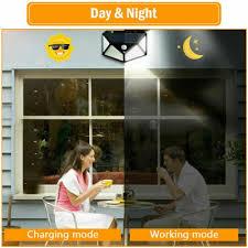 <b>100 LED Solar</b> Power <b>PIR</b> Motion Sensor Wall Light <b>Outdoor</b> Garden ...