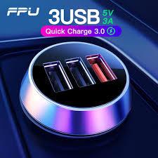 FPU USB <b>Car Charger</b> 3 Ports <b>Quick</b> Charge 3.0 <b>QC3</b>.<b>0</b> QC Mobile ...