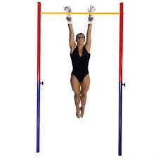 Sturdy <b>Adjustable</b> Gymnastic <b>Horizontal High</b> Bar <b>Metal</b> Pipe ...