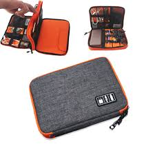 Waterproof iPad Organizer <b>USB Data Cable</b> Earphone Wire Pen ...