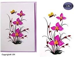 Quilling 3D Greeting Card Flower Card <b>Purple Flowers</b>: Amazon.de ...