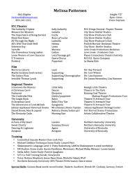 resume melissa patterson resume