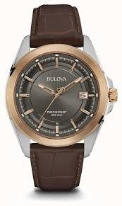 <b>Bulova</b> Мужской коричневый ремешок серый <b>98B267</b> - First Class ...