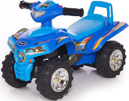 <b>Baby Care Каталка детская</b> Super ATV Синий/Светло-синий ...