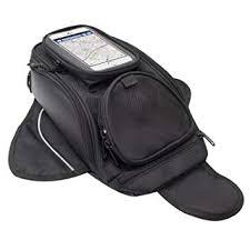 <b>Motorcycle Tank</b> Bag - Waterproof Oxford Saddle Black <b>Motorbike</b> ...