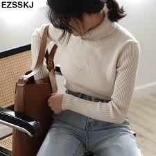 chic Autumn <b>winter</b> thick <b>Sweater Pullovers Women</b> Long Sleeve ...
