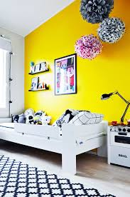 themed kids room designs cool yellow: paint a wall yellow yellow kids roomsrooms for kidskid decorroom decorationsyellow wallsmodern kidsbedroom