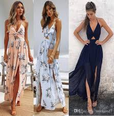2019 3 Colour <b>S XL Women</b> Sling <b>V Neck</b> Chiffon Printing Boho ...