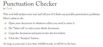 best free online punctuation checker tools  correctors garreston punctuation checker