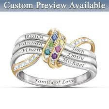 <b>Ring</b>: Our Familys Forever Love <b>Personalized Birthstone Engraved</b> ...
