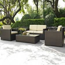 patio couch set  piece outdoor wicker resin patio furniture set with cushions