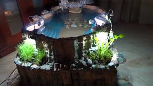 diy patio pond: diy indoor pond with waterfall youtube