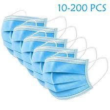 10-200 PCS Pure <b>Color Disposable</b> Three Layer <b>Dust</b>-Proof ...