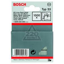 <b>Скобы для степлера Bosch</b> 1609200365 8 мм, тип 53, 1000 шт ...