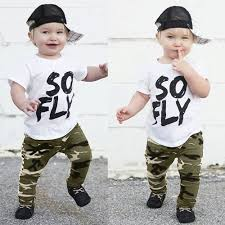 Casual <b>Children</b> Sets 2Pcs Toddler <b>Kids</b> Baby <b>Boys Camouflage T</b> ...