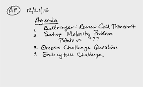 nd ap biology agenda
