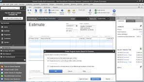 contractor accounting > quickbooks® enterprise industry solutions create work orders from estimates and turn them directly into invoices