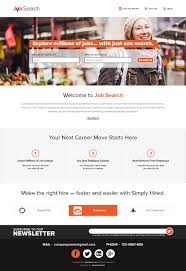 design a website mockup for a job search engine lancer 42 for design a website mockup for a job search engine by doomshellsl