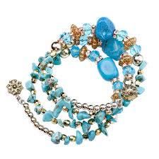 <b>HOCOLE</b> 6 Colors Natural Stone <b>Beach</b> Bracelet Bangles Crystal ...