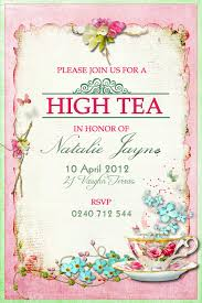 victorian high tea party invitations surprise party invitation victorian high tea party invitations surprise party invitation