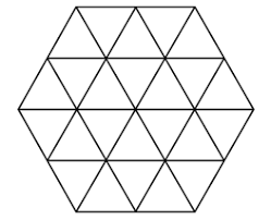 A six-sided <b>mosaic</b> contains 24 <b>triangular</b> pieces of <b>tile</b> of the same ...